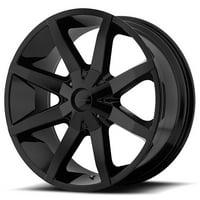 Slide 20X8.5 6X135.00/6X139.70 Gloss Black (38 Mm)