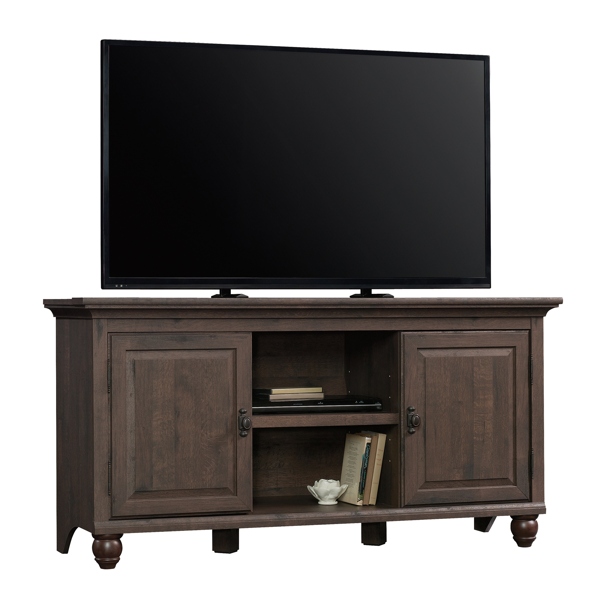 Click here to buy Better Homes and Gardens Crossmill Collection TV Stand & Console Cabinet for TVs up to 65\ by Sauder Woodworking.