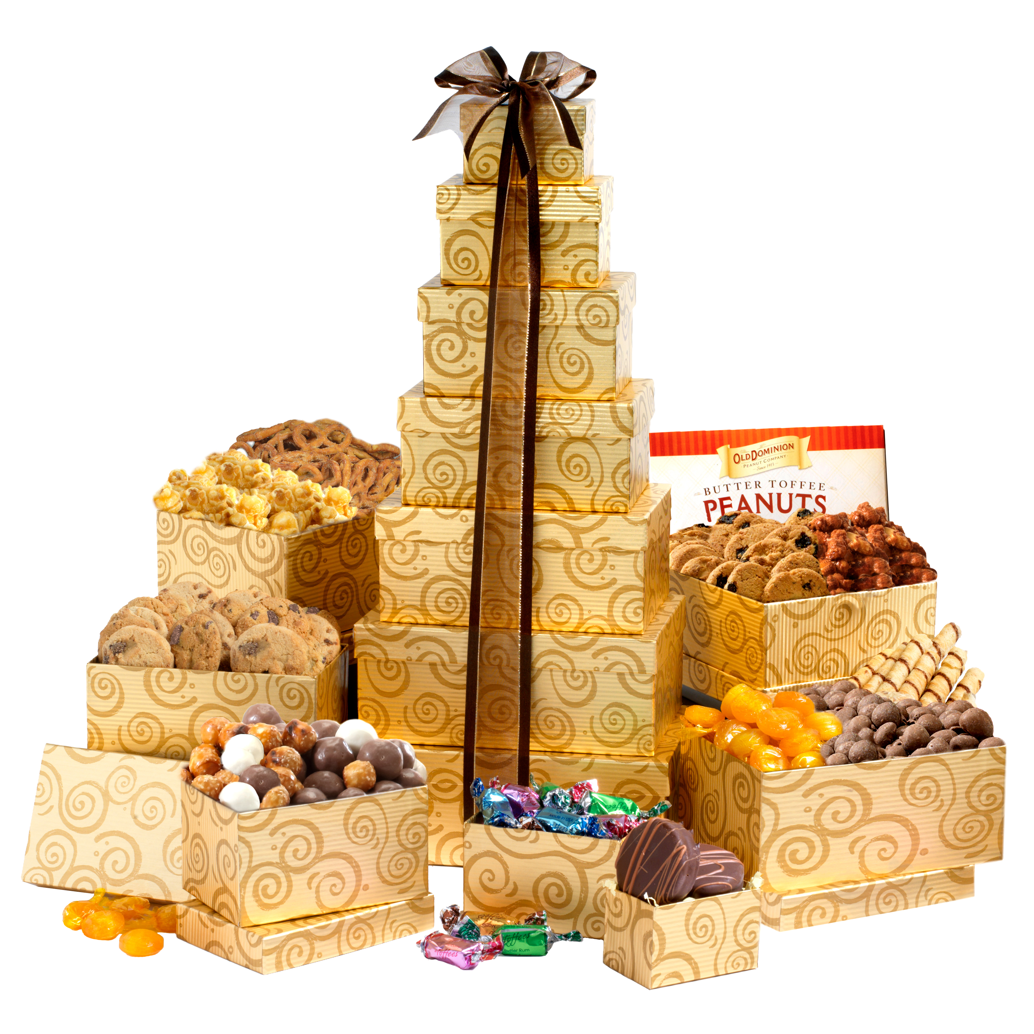 Broadway Basketeers Deluxe Festive Holiday Gift Tower