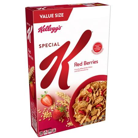 (3 pack) Kellogg's Special K Breakfast Cereal, Red Berries, 16.9