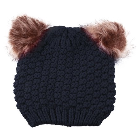 8b76d64d366 Enimay - Enimay Kids Baby Toddler Cable Knit Children s Pom Winter Hat  Beanie Navy One Size - Walmart.com