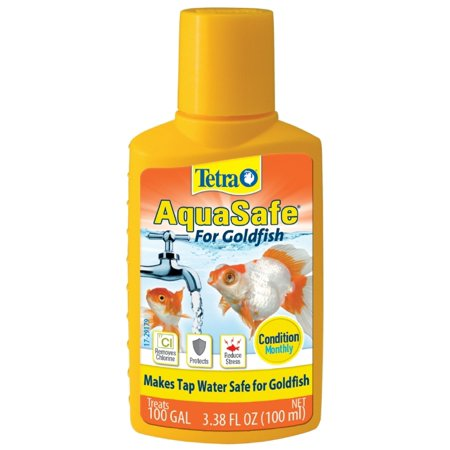(2 Pack) Tetra AquaSafe Water Conditioner for Goldfish, 3.38-Ounce