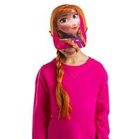 Disney Frozen Anna Girls Baseball Cap with Hair Wig Costume Hat