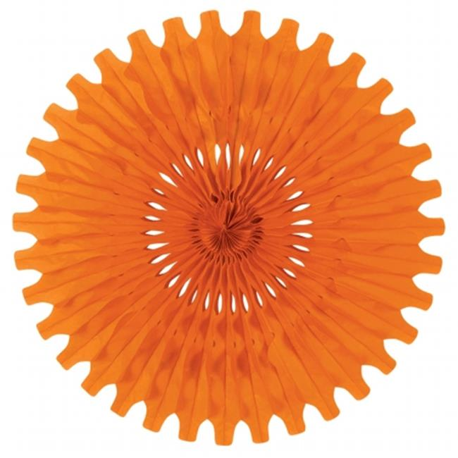 Beistle Company 55293-O Tissue Fan - Orange