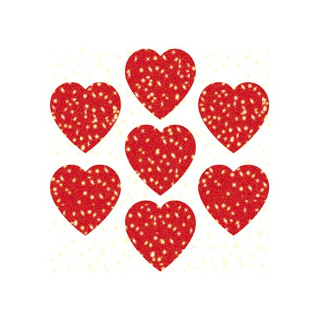 Red Hearts Dazzle Stickers by Carson-Dellosa