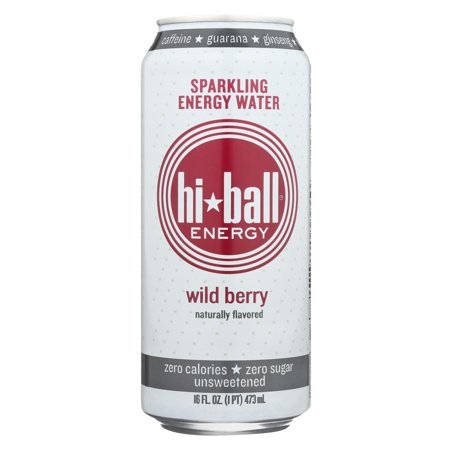 Hi Ball Energy Sparkling Energy Water - Wild Berry - Pack of 1 - 8/16 Fl Oz.