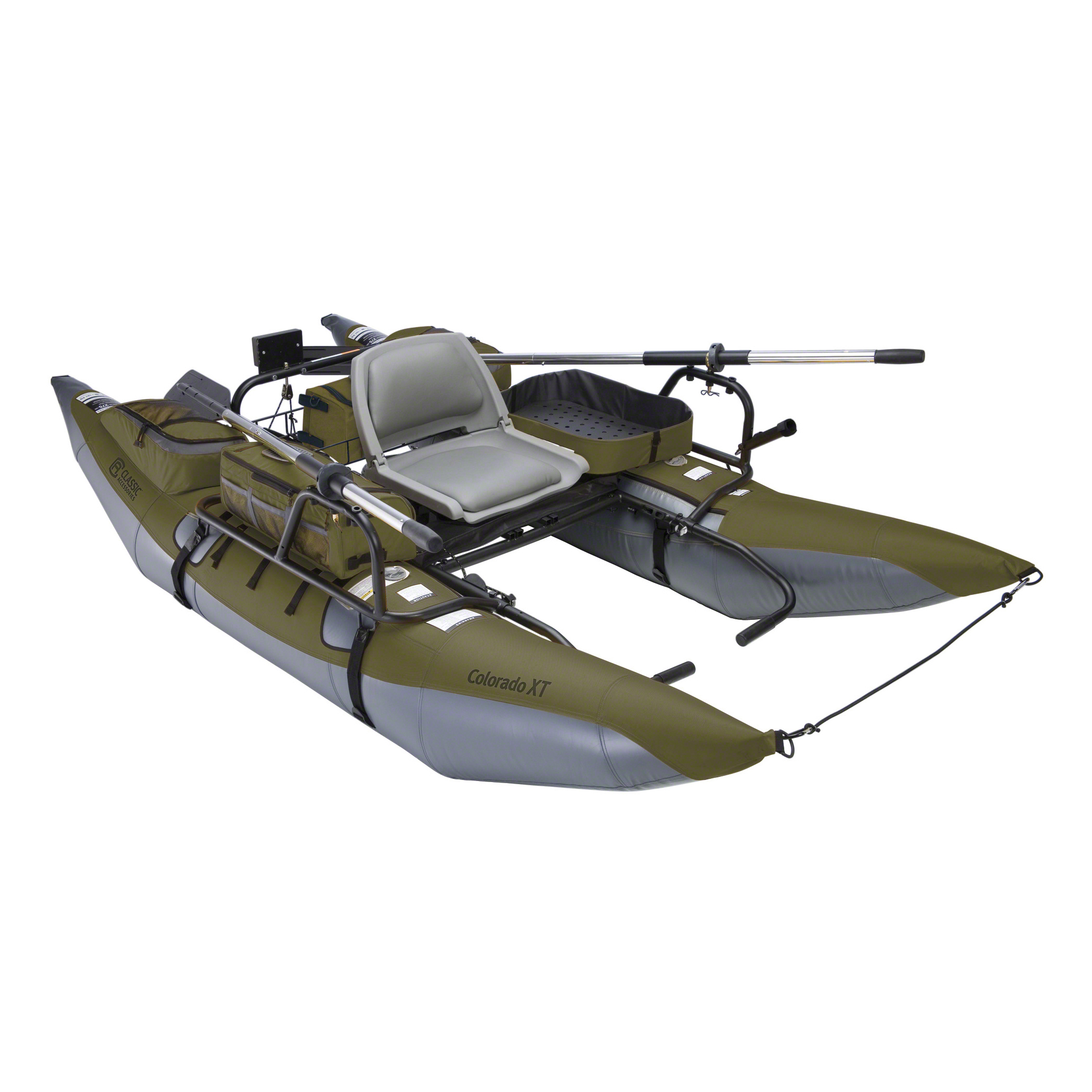 Classic Accessories Colorado XT Pontoon Fishing Boat, Sage/Grey