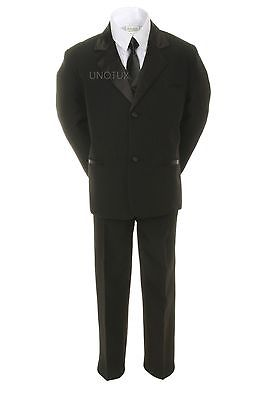 Altotux Born Baby Toddler Kid Teen Boy Black Formal Wedding Party Suit Tuxedo S-20