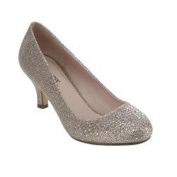 BONNIBEL WONDA-1 Women's Glitter Slip On Dress Pumps Half Size Small - Size 12 Pumps