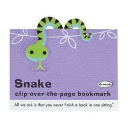 Re-marks Snake Clip-over-the-page Bookmark Back to School or Halloween](Homemade Halloween Bookmarks)