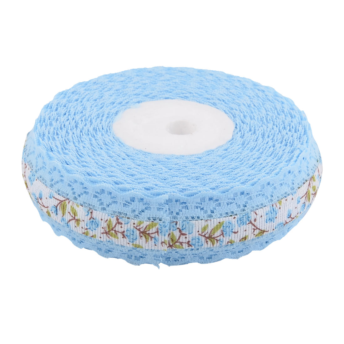 Household Wedding Lace Floral Pattern Decorative Crafting Ribbon Roll Light Blue - image 1 of 4