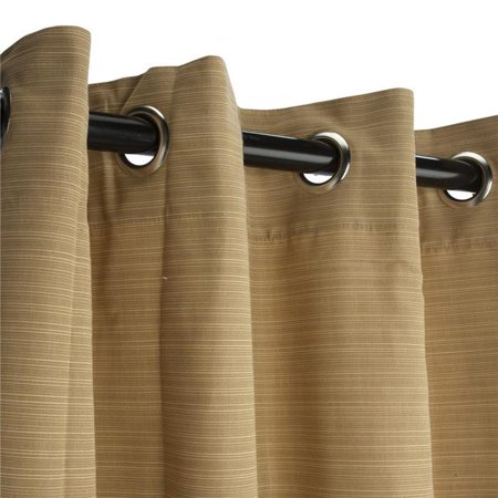 Hammock Source CUR96BMGRSN 50 x 96 in. Sunbrella Outdoor Curtain with Nickel Plated Grommets, Dupione Bamboo
