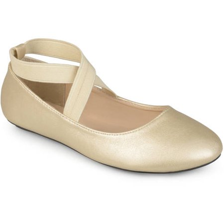 Brinley Co. Kids Toddler Little Kids Faux Leather Close Toe Ballet Wrap Flats - Ballet Flats Toddlers