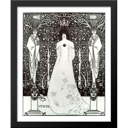 Venus between Terminal Gods 28x34 Large Black Wood Framed Print Art by Aubrey Beardsley