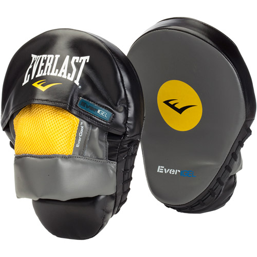 Everlast Evergel Mantis Punch Mitts, Black