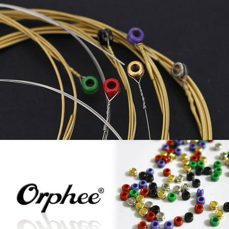 Acoustic Extra Light (Orphee TX620 6pcs Acoustic Folk Guitar String Set (.010-.047) Phosphor Bronze Extra Light Tension )