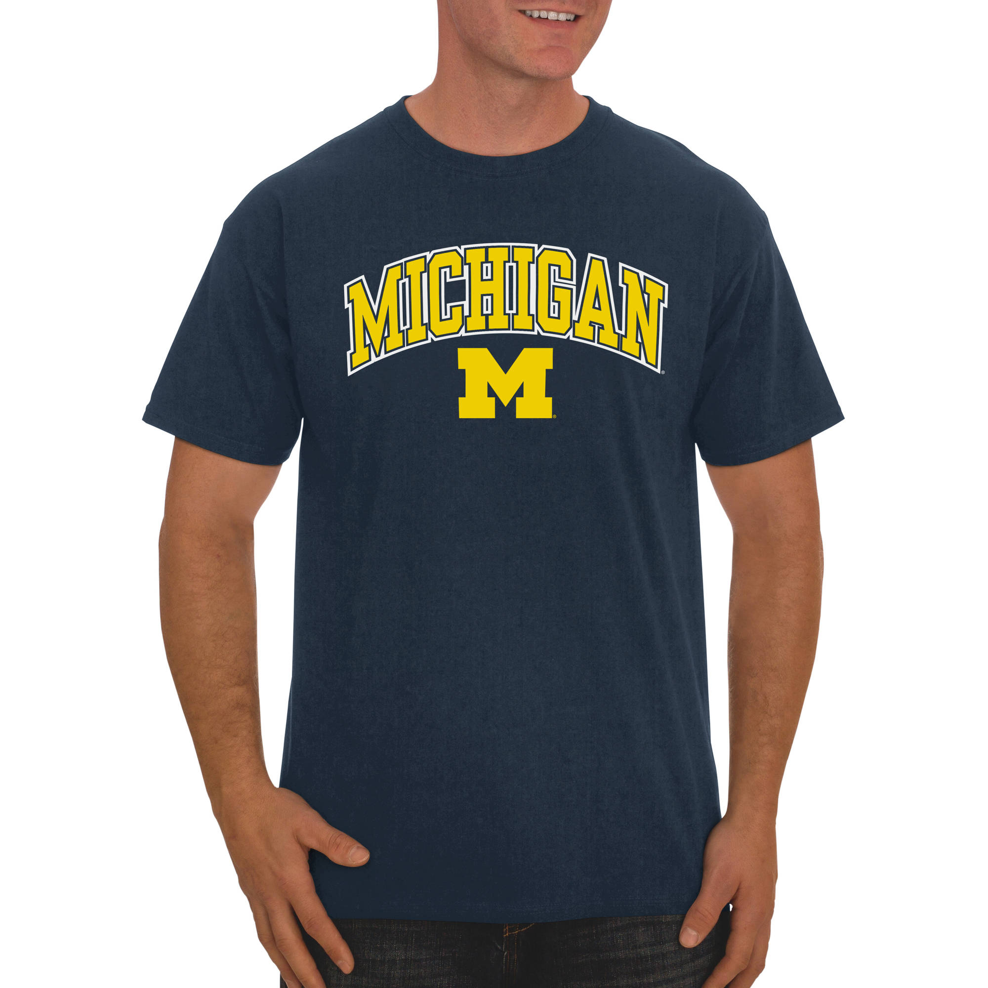 Russell NCAA Michigan Wolverines, Men's Classic Cotton T-Shirt