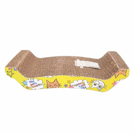Cat Scratcher Durable Reversible Cat Scratching Pad Recycled Harden Corrugated Cardboard Sturdy Eco-Friendly Design Maintain Healthy Cat Claws and Protect Furniture