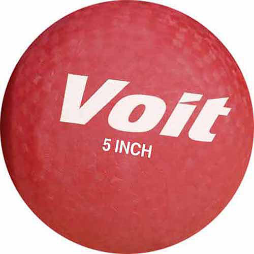"Voit 5"" Playground Ball, Red"