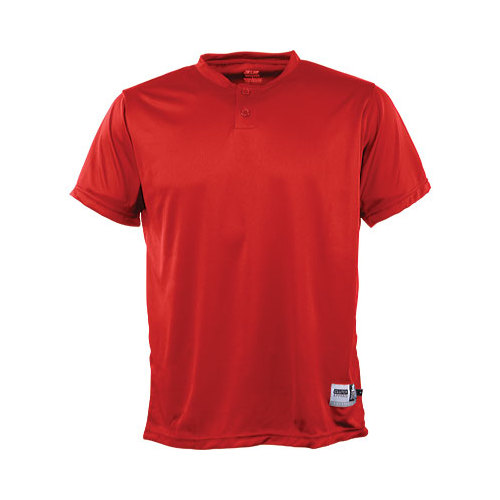 Image of 3N2 2090Y-35-YL Kzone Two-Button Henley Youth, Red - Youth Large