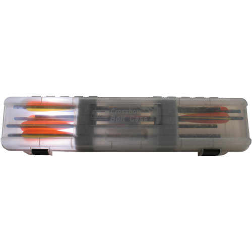MTM Crossbow Bolt Case, Holds 12, Clear Smoke by MTM