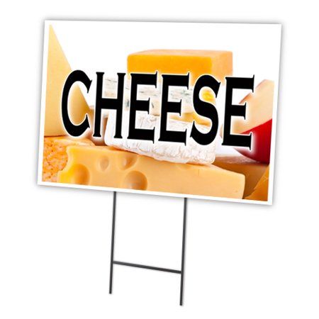 cheese 12 x16 yard sign stake outdoor plastic coroplast window. Black Bedroom Furniture Sets. Home Design Ideas