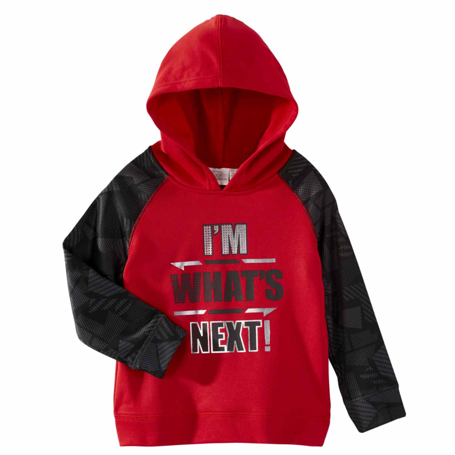 Infant Boys Red & Black I'm What's Next Hoodie Baby Athletic Sports Sweatshirt
