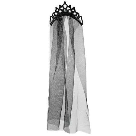 Morris Costumes ALP15118 Tiara with Double Veil Costume - Costume Crowns And Tiaras