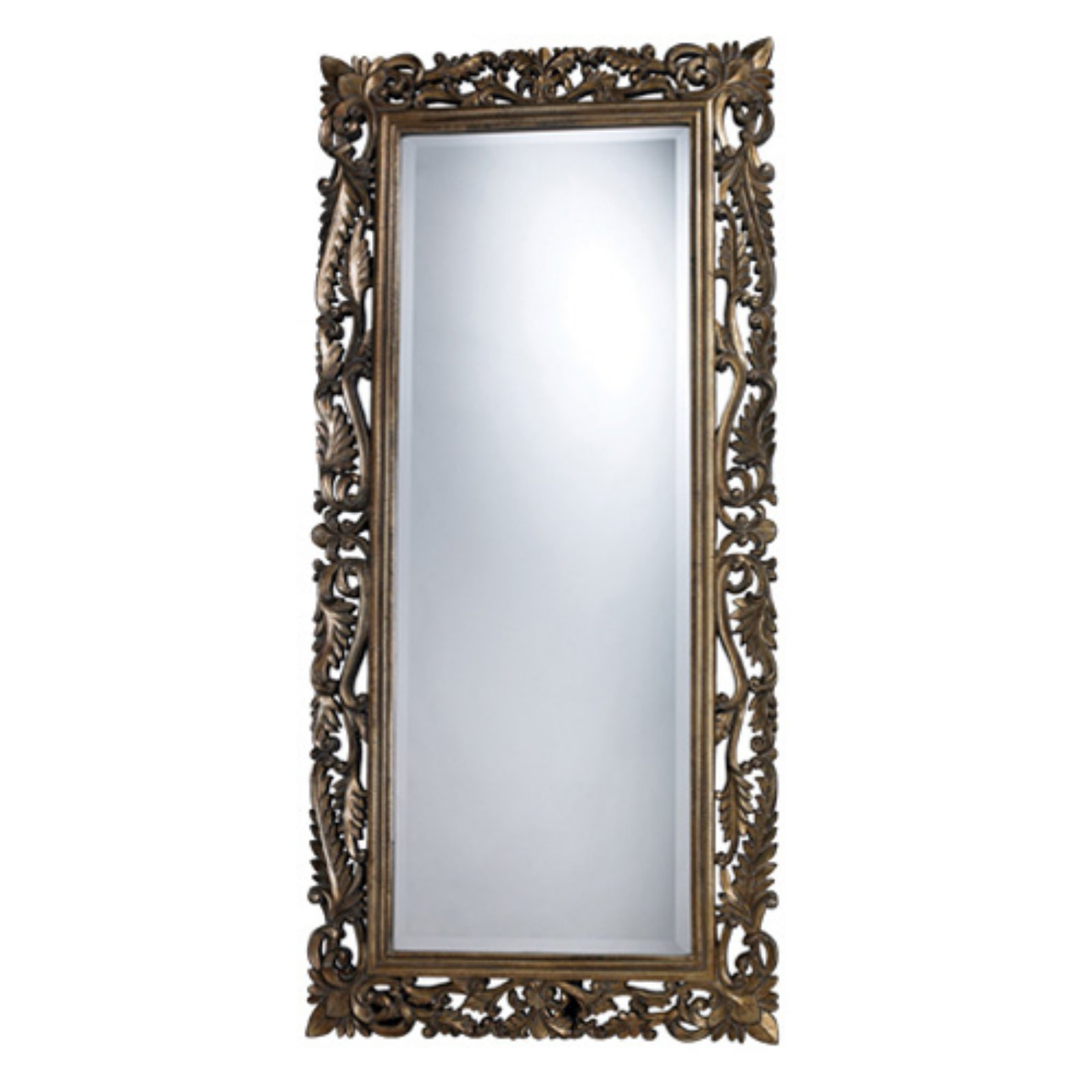 Sterling Tripoli Allen Gold Full Length Mirror - 28W x 60H in.