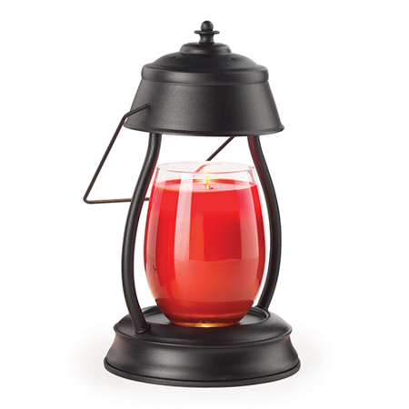 Candle Warmers Etc. Black Hurricane Candle Warmer Lantern
