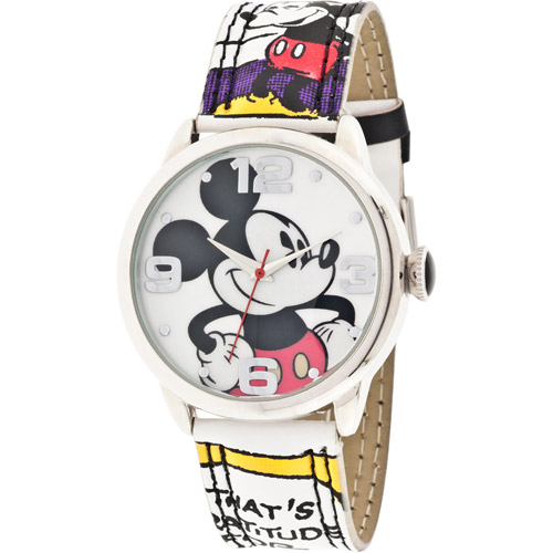 Disney Women's Mickey Mouse Comic Strip Watch
