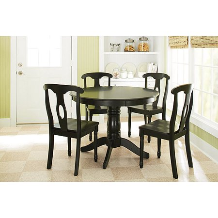 Better homes and gardens 5 piece pedestal dining set for Dining room sets walmart