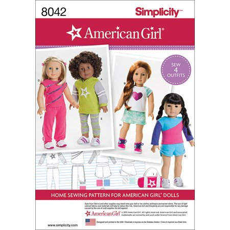 Simplicity One Size American Girl Doll Clothes Pattern, 1 Each (Quilt Patterns Doll Houses)