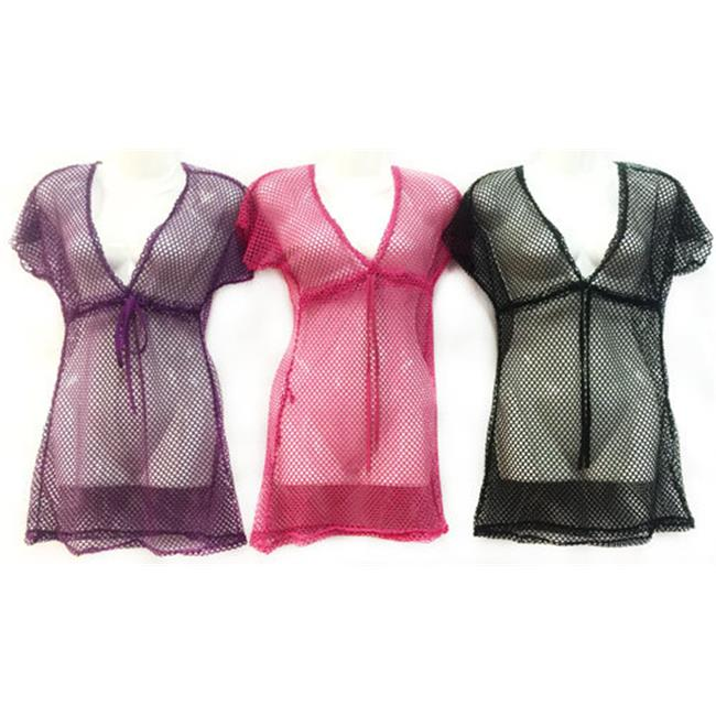 DDI 1894046 Women's Mesh See Through Lace Cover Up Shirt Case of 12