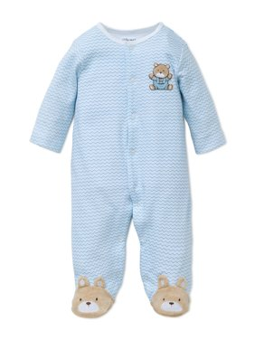 65f31c2449 Little Me Boys 1 Piece Long Sleep Sleeper Full Zip or Snap Footie Pajama (9M