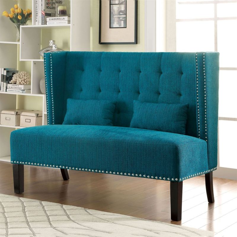 Furniture of America Amora Loveseat 55.5W 112H