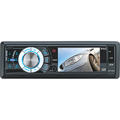 "Boss Audio BV7330 1-DIN In-Dash DVD/MP3/CD AM/FM Receiver with 3.2"" Widescreen TFT Monitor, USB, SD Memory Card and Front Panel AUX Input"