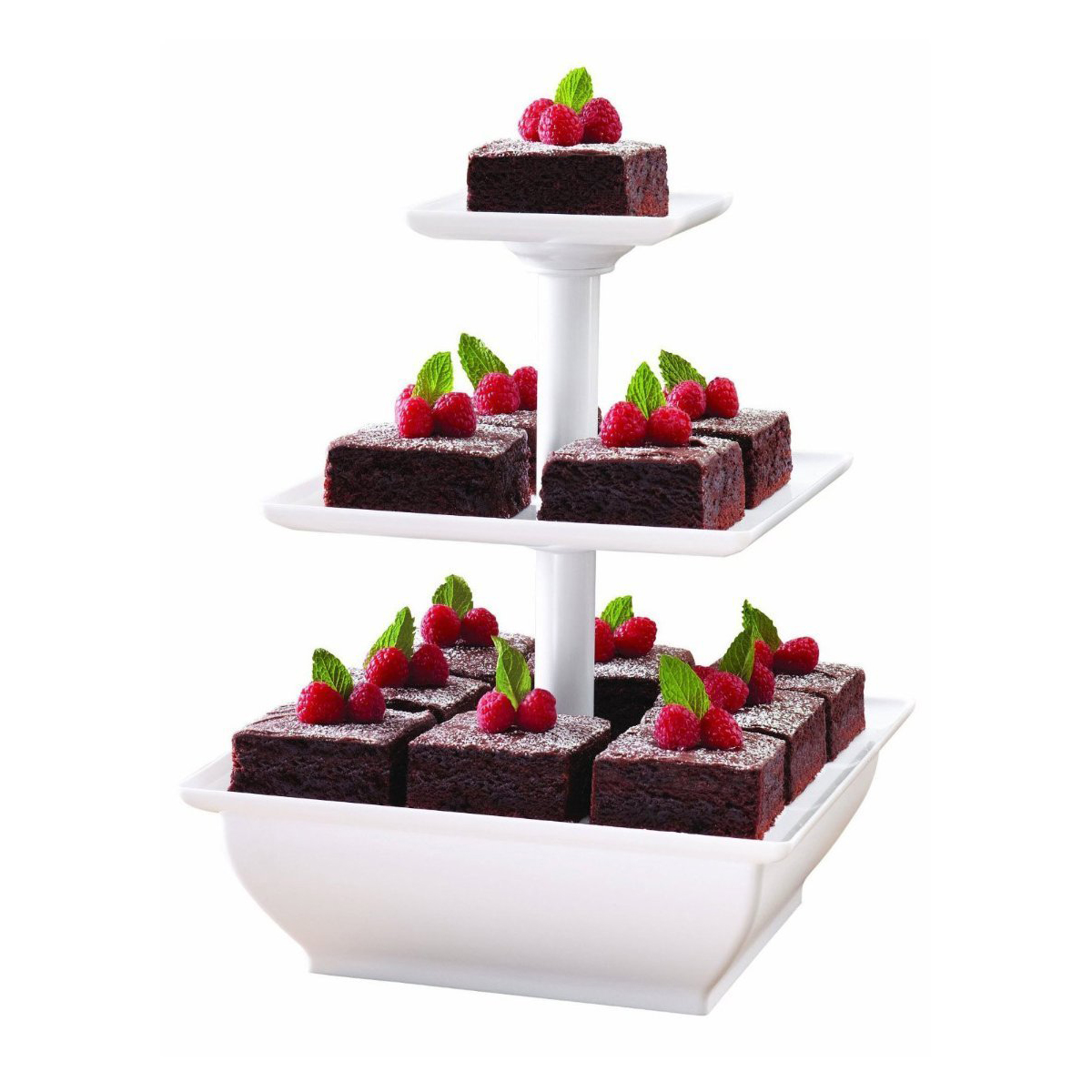 3 tier serving tray dessert cupcake stand party platter server