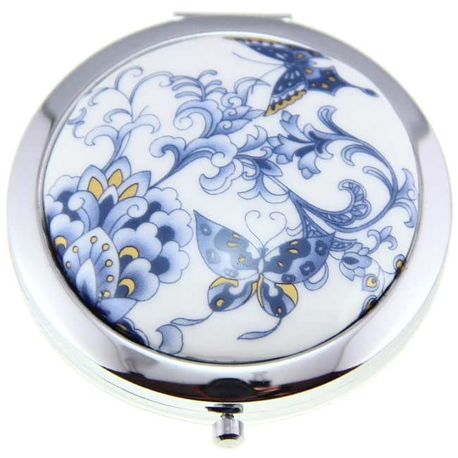Zenses Handmade Porcelain Butterfly Cosmetic Mirrors (China)