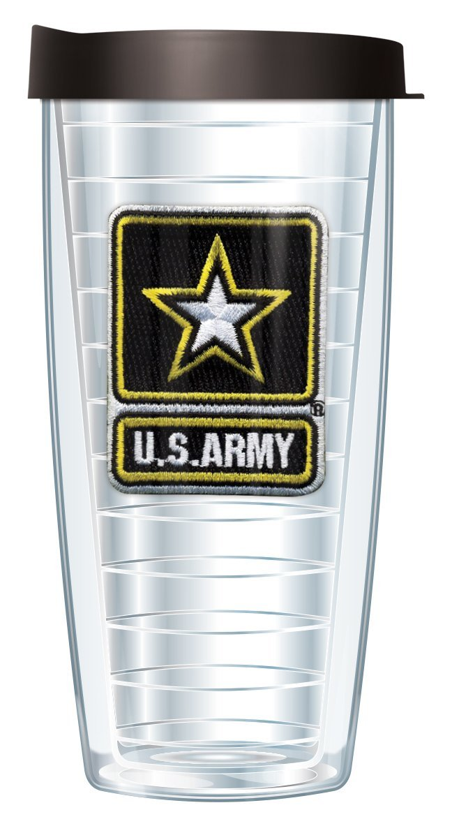 Army Emblem Traveler 16 Oz Tumbler Mug with Lid by