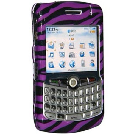 Premium Zebra Print Purple Snap On Hard Shell Case for BlackBerry 8300, BlackBerry 8300 curve, BlackBerry 8310, BlackBerry 8320, BlackBerry - Purple Zebra Print