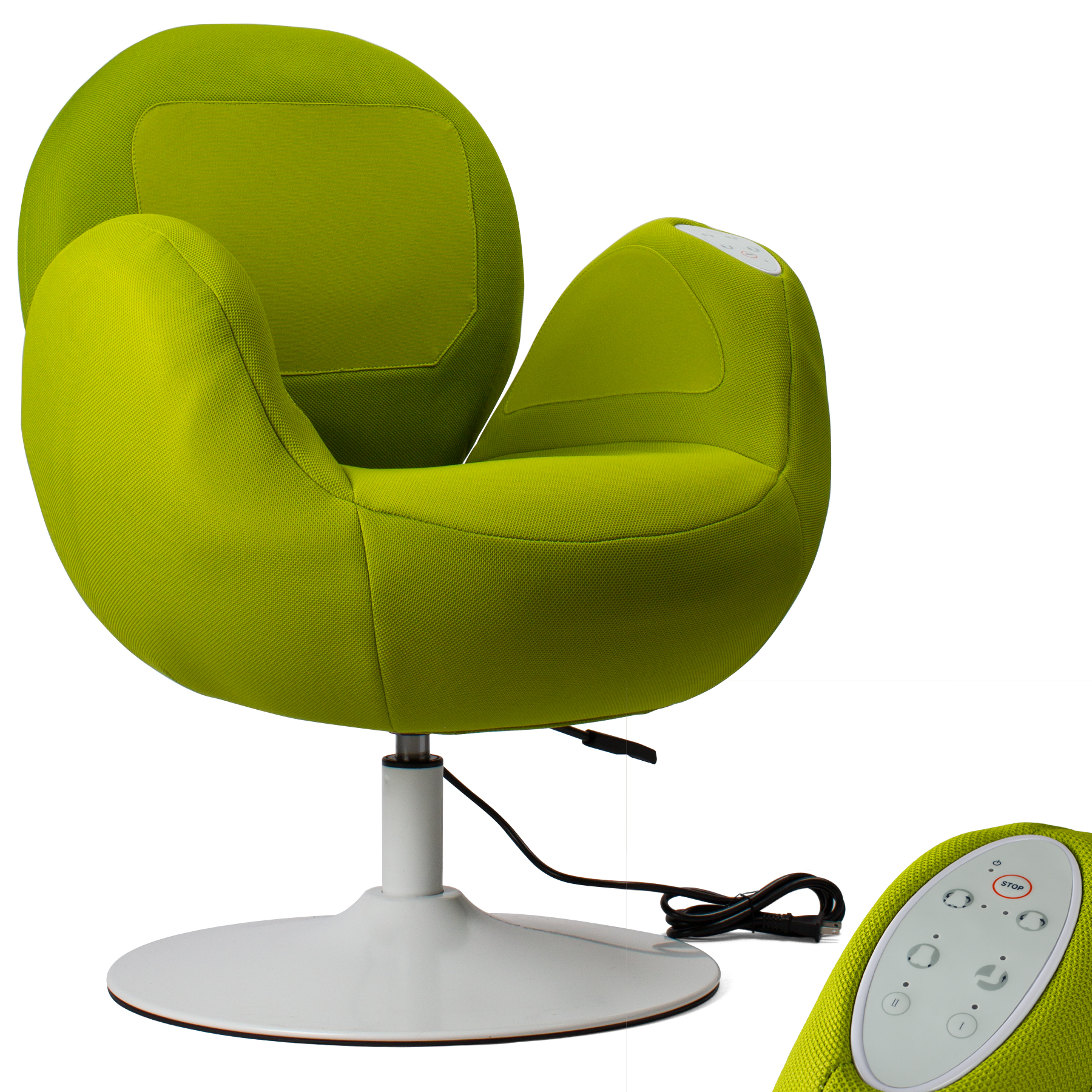 Electric Air Pressure Compression Massage Armrest Chair for Relaxation & Comfort at Home or Office - Green