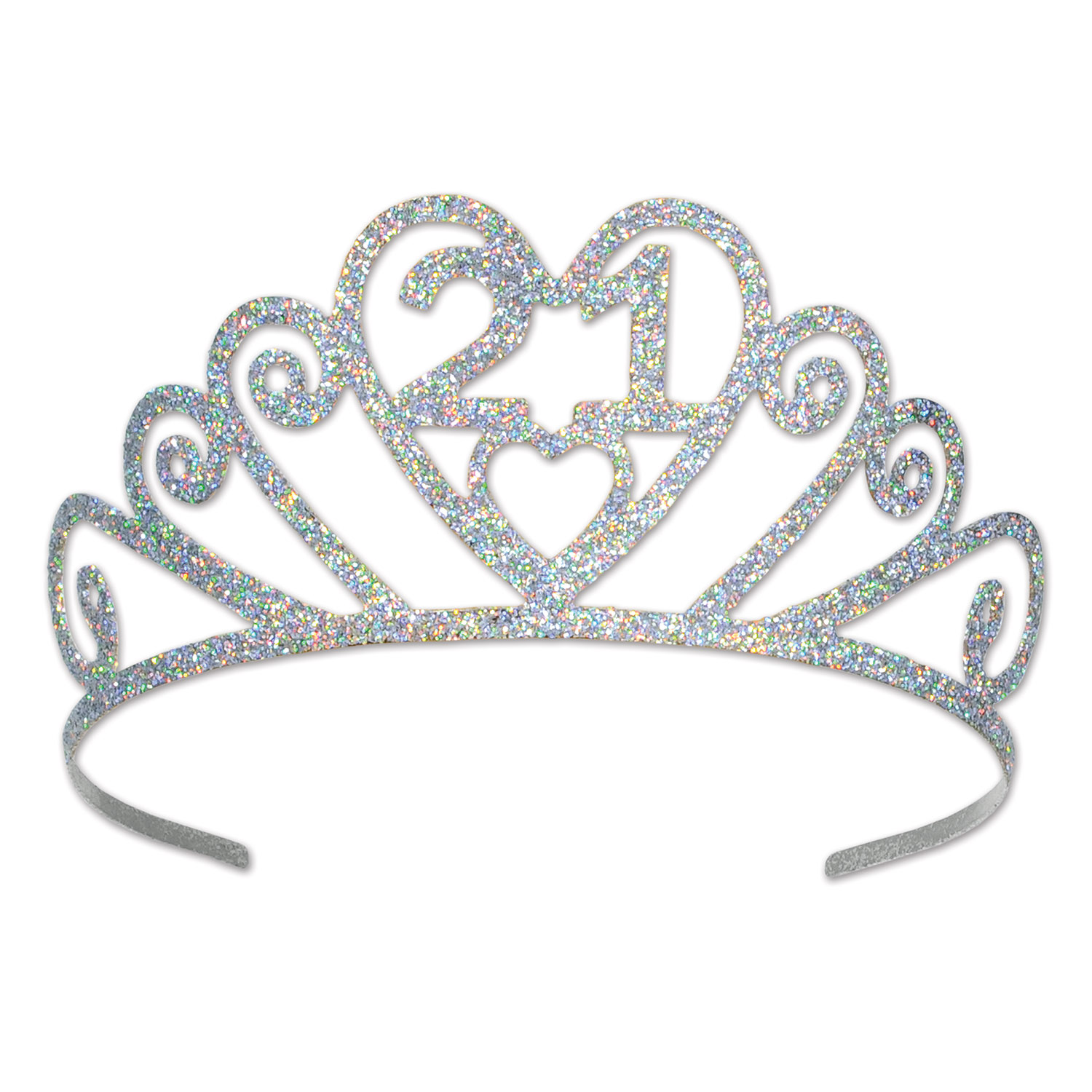Beistle 60633-21 Glittered 21 Tiara - Lot de 6 - image 1 de 1