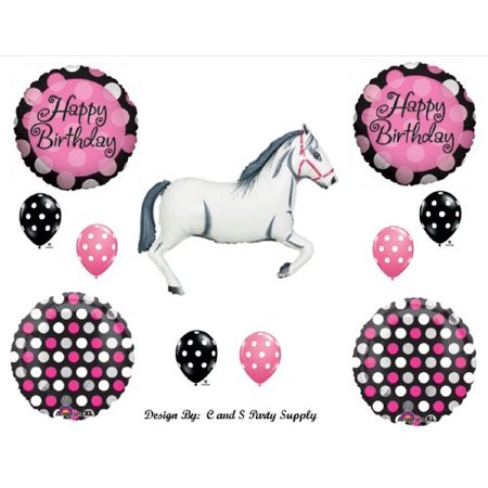 White Horse Cowgirl BIRTHDAY PARTY Balloons Decorations Supplies](Horse Theme Party Supplies)