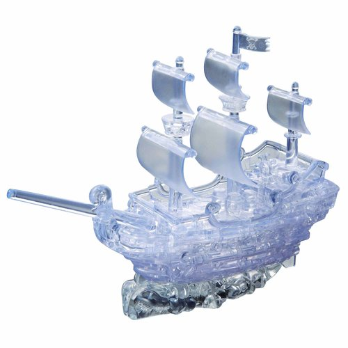 Deluxe 3D Crystal Puzzle Clear Pirate Ship by BePuzzled