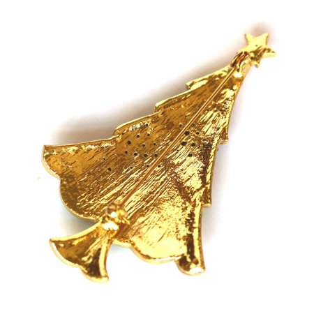 Faship Gorgeous Rhinestone Crystal Christmas Tree Pin Brooch Crystal Rhinestone Christmas Tree Pin