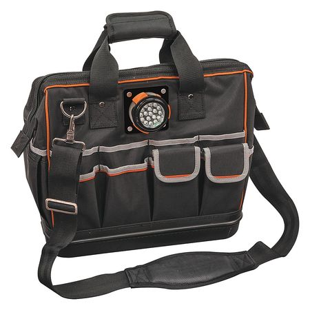 "KLEIN TOOLS Wide-Mouth Tool Bag,31 Pockets,15-1 4"" W 55431 by Klein Tools"