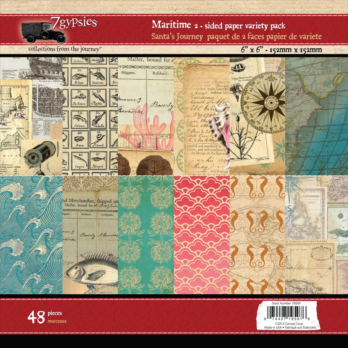 "7 Gypsies Paper Pad 6""X6"" 48/Pkg-Maritime"