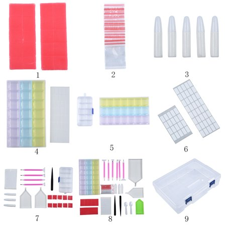 88Pcs Diamond Painting Accessories Multi-style DIY 5D Diamond Painting Tools Kit (Diy Stained Glass Kit)