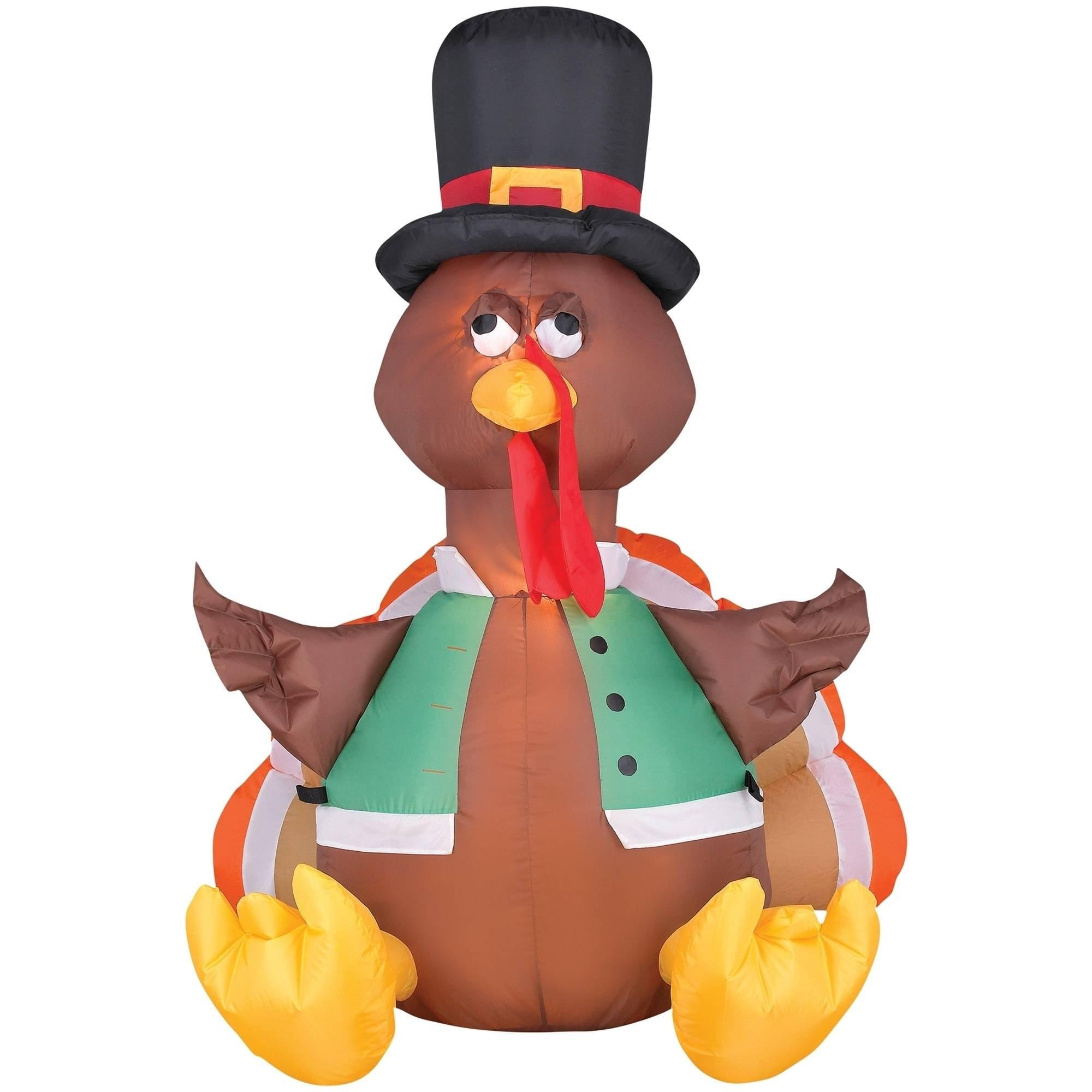 Happy Turkey Airblown Halloween Decoration